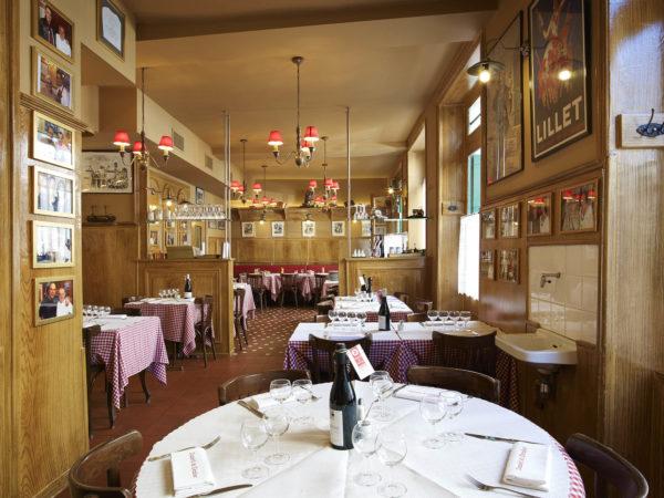Intérieur du restaurant Daniel & Denise rue Créqui