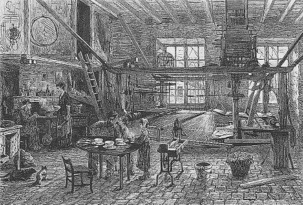 INTÉRIEUR D'UN TISSEUR DE SOIE. (IN LE MONDE ILLUSTRÉ, 3 MARS 1877) @feratm