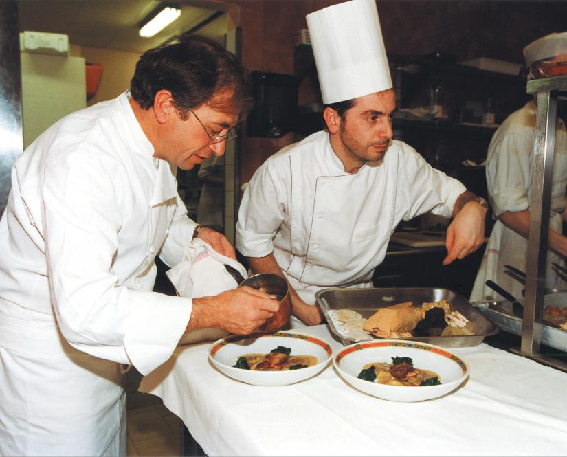 Joseph Viola aux côtés de Jean-Paul Lacombe chez Léon de Lyon